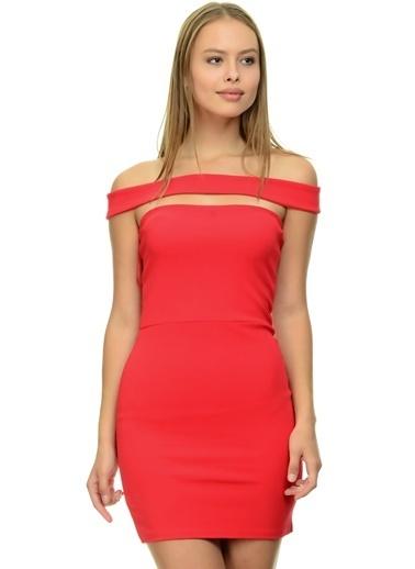 Missguided Missguided Elbise Kırmızı
